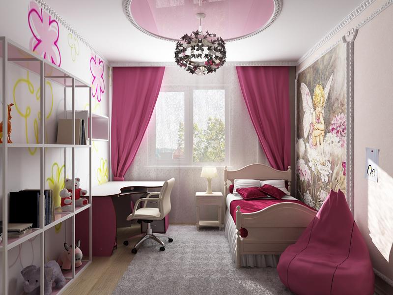 Ремонт в комнате для девочки подростка своими руками