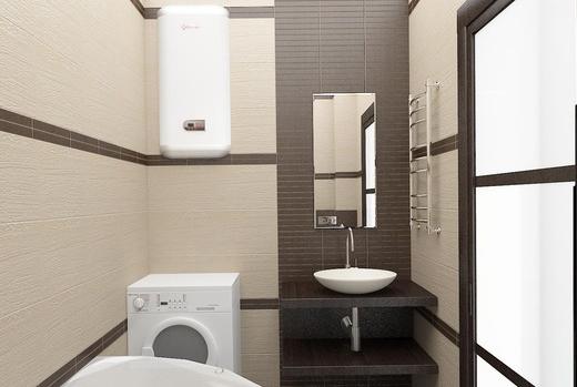 Дизайн ванной в цвете венге